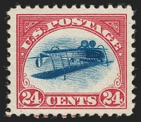 Position 49Sold by Siegel November 15, 2018For $1,593,000Record price for an Inverted JennyRecord Price for a 20th Century stamp
