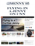 Watch CNN Video of the Jenny flyingat Rhinebeck Aerodrome