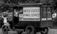 USPOD truck with airmail service sign