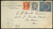 Buffalo stamp on cover flown by balloon from Nashville in 1877; the mail was posted at Gallatin Tenn. on 18 June Image: Siegel Auction Galleries