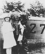 Lieut. Edgerton and his young sister after he successfully completed the southbound flight from Philadelphia to Washington, D.C., 15 May 1918