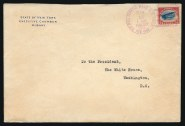 15 May flight cover from NY Governor Whitman to President Wilson Image: Siegel Auction Galleries