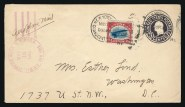 Cover flown 16 May 1918 on Jenny piloted by Lieut. Bonsal, which crashed at Bridgeton, NJ