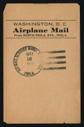 Facing slip shown here was on a bundle of mail flown from Philadelphia to Washington, DC, on the same day as the crash Image: Siegel Auction Galleries