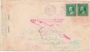 Cover prepared for the first o cial airmail route number 607,001 Image: James P. Myerson collection