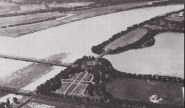 Aerial view of the airfield at Potomac Park Polo Field in Washington, D.C. Image: Flying the Mail, page 42