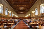 Reading room in New York Public Library