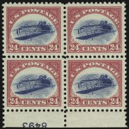 The unique plate block, Positions 87-88 and 97-98